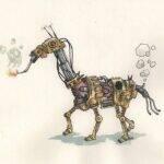 cheval_robot_aquarelle_mmk_myriam_sitbon