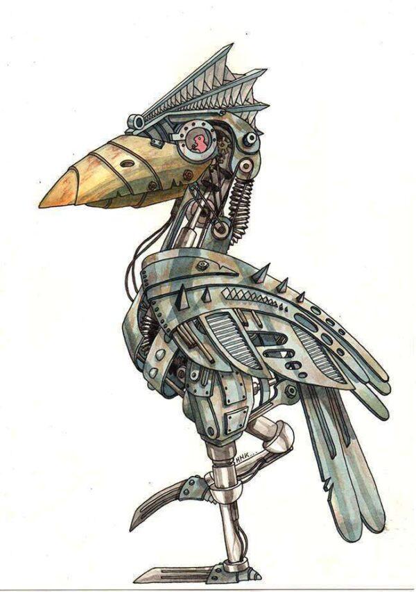 corbeau_robot_aquarelle_mmk_myriam_sitbon
