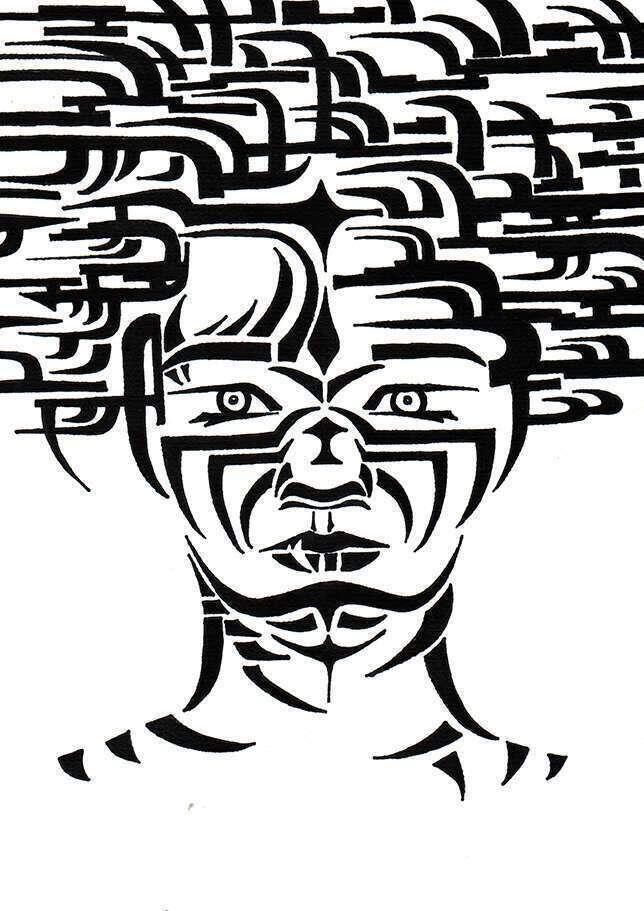Carte femme tigre face