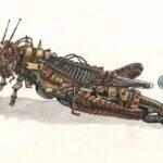 sauterelle_robot_aquarelle_mmk_myriam_sitbon