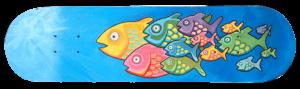 Skateboard «petits poissons»