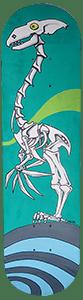Skateboard squelette de dino