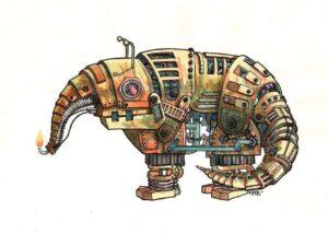 Carte tapir robot