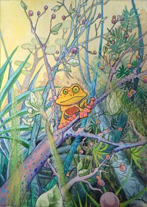 Petite grenouille dans la jungle